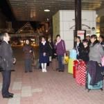 福島駅到着 解散式