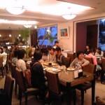 ホテルでの最後の夕食風景です