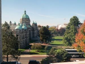 博物館から見た州議事堂