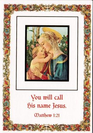 You will call his neme Jesus